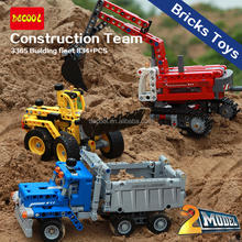 Decool 3365 Construction team DIY car 834pcs Building Bricks Toys Christmas gift for children