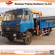 Used mini truck mounted crane, telescopic boom truck mounted crane