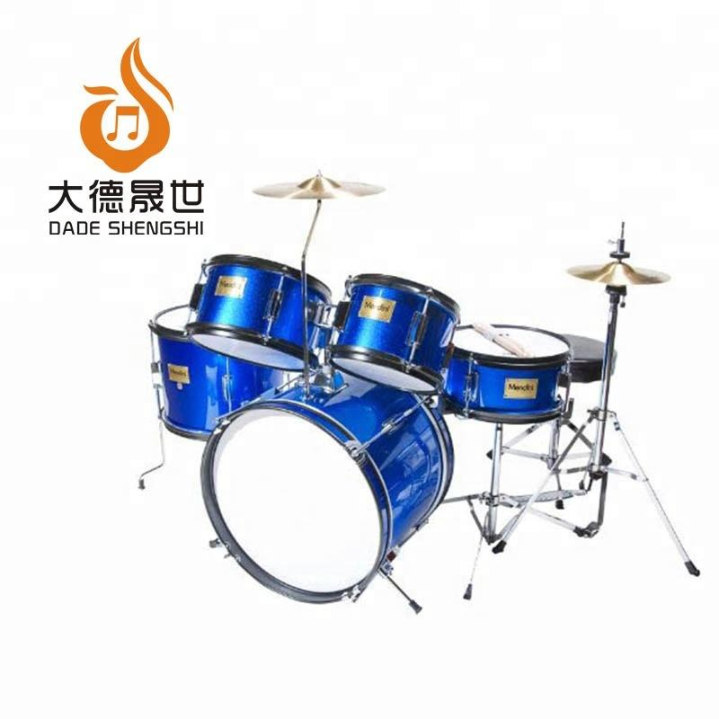 Met Verstelbare Troon, Cimbaal, pedaal & Drumsticks Metallic Blauw 16 Inch 5 Stuk Compleet Kind/Kids/Junior Drum Set