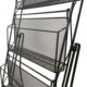 Folding metal wire magazine shelf rack mesh holy book display stand