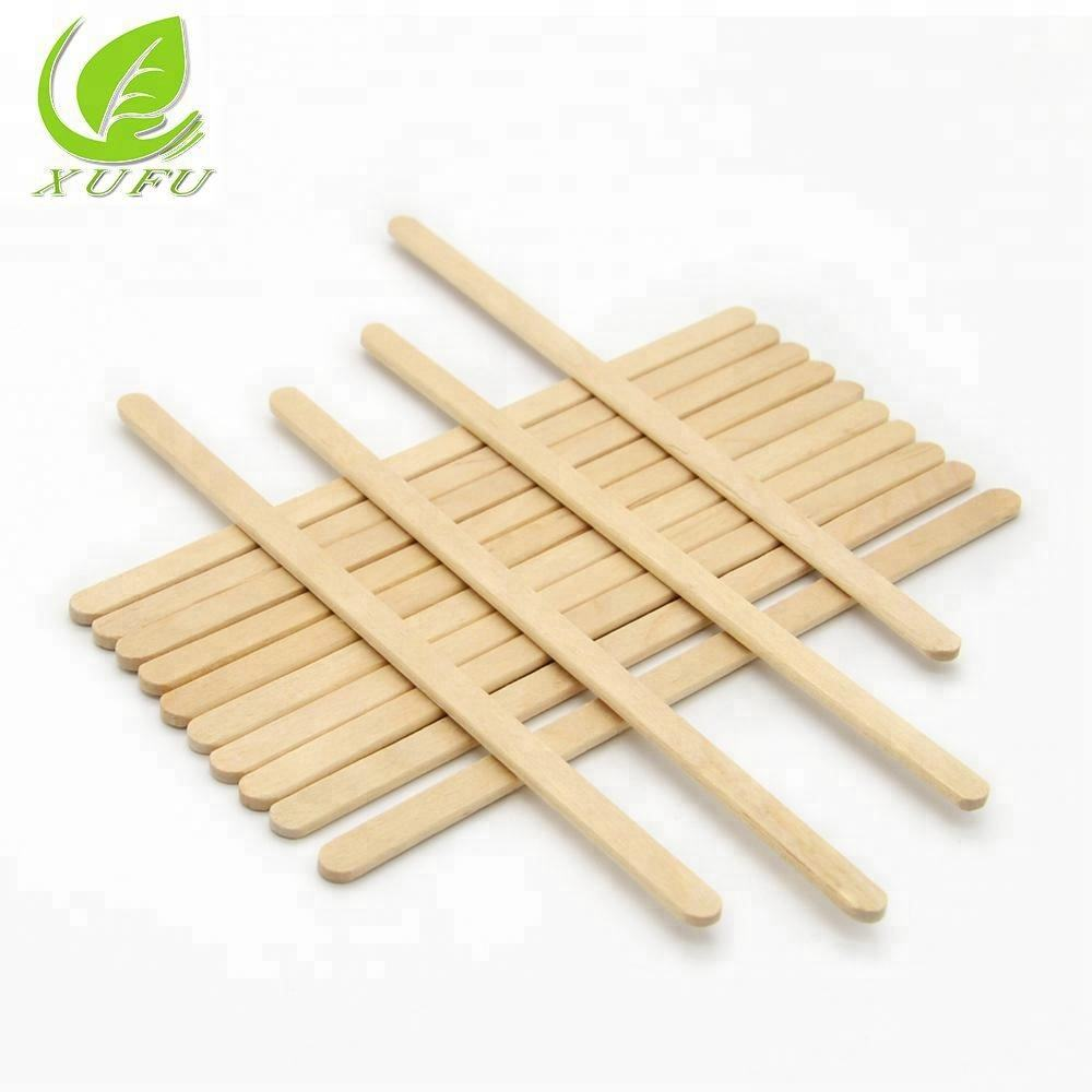 wooden coffee stirrer customized package