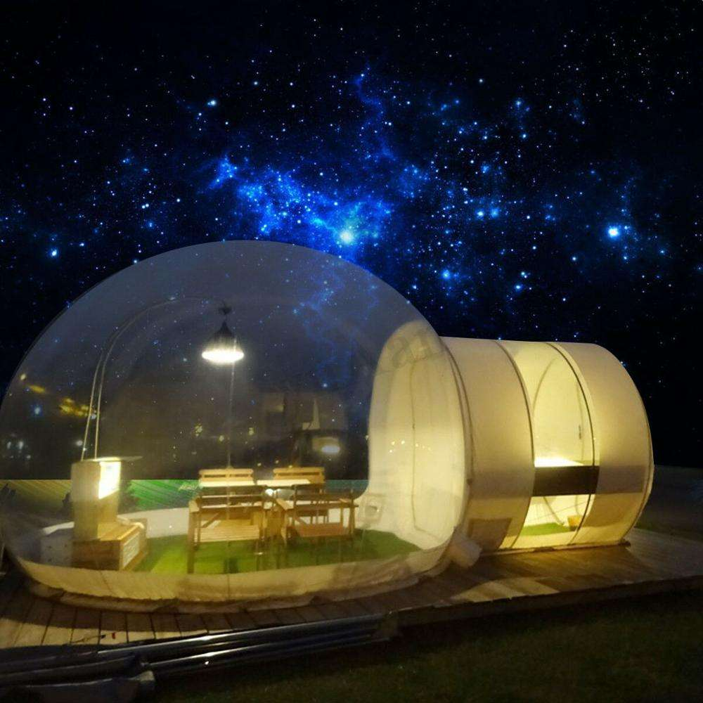 фото прозрачная палатка фигура идет прямой