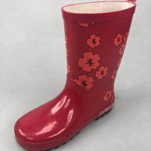 hotsale new design kids printing Rainboots ,waterproof rubber rain boots for kids ,manufacture rain boots