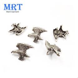 Nickel-free antique silver eagle custom metal pin badge