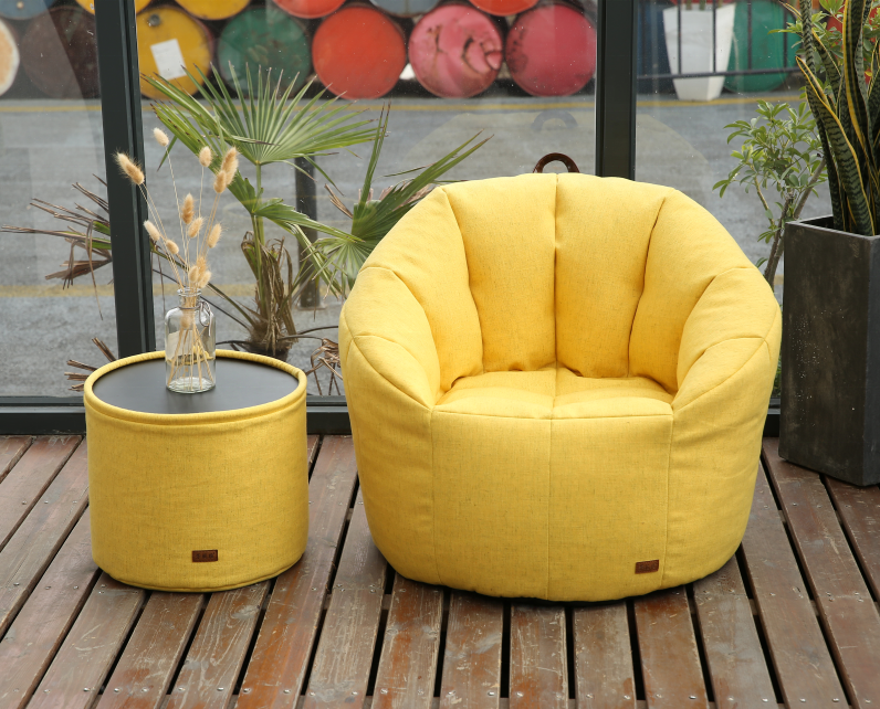 Indoor Stylish Fabric Relax Morden Furniture muebles colorful pumpkin chair Sofa Bean Bag set