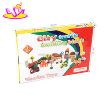 Best sale children wooden toy road signs for education W13A097
