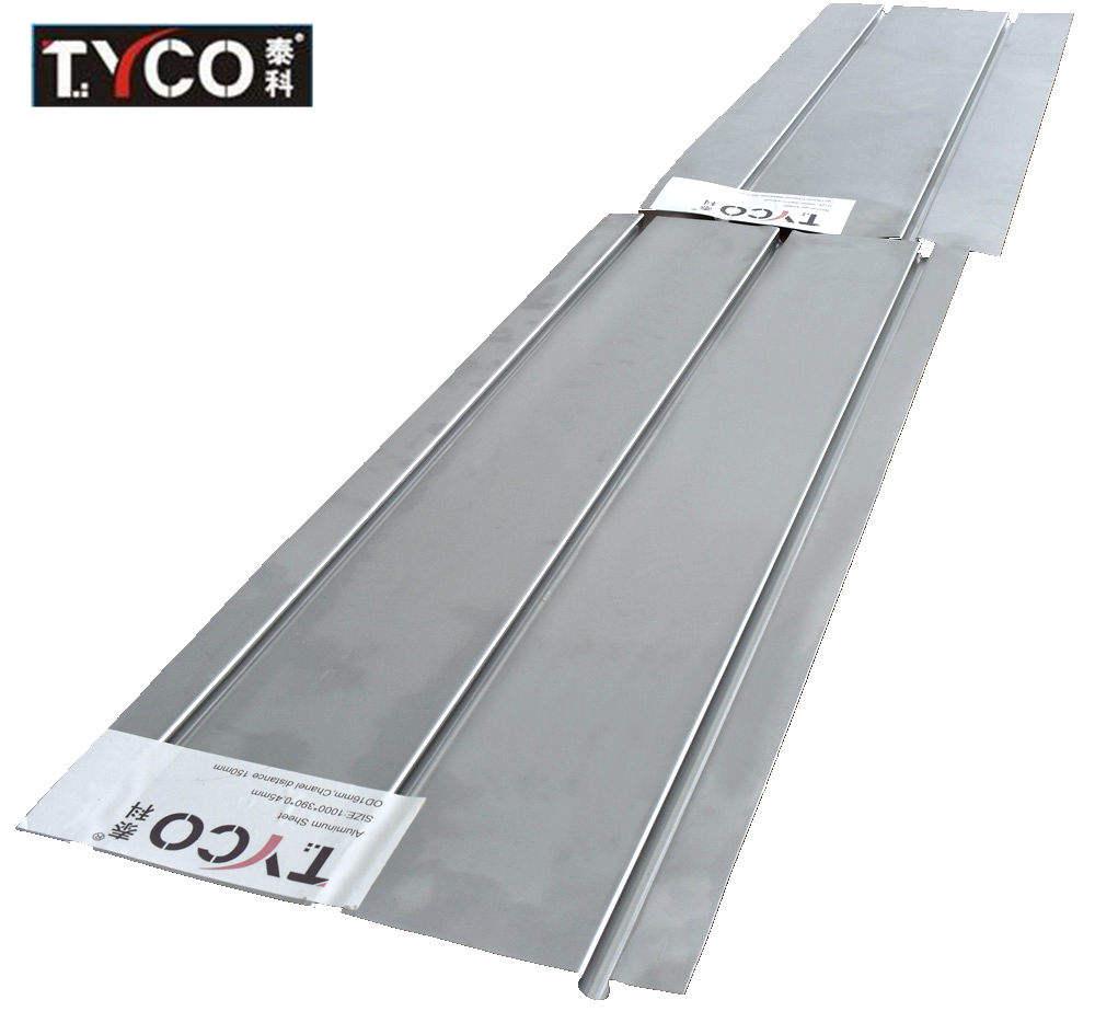 """150-4/' Aluminum Radiant Floor Heat Transfer Plates for 1//2/"""" Pex Tubing"""
