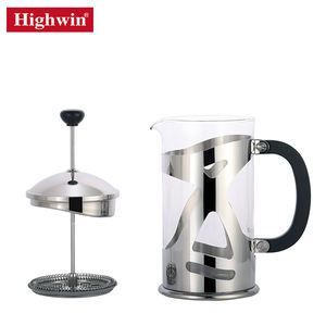 Highwin Factory Cold Coffee Maker Borosilicate Glass Stainless Steel Flame French Press