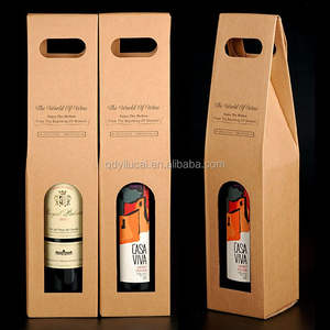 custom design wine recyclable brown kraft paper box