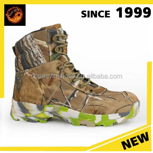 Холодная погода армейские ботинки ботинки буфф мужчины шерсть зима Привет кожа коровы Camo Камуфляж военные ботинки