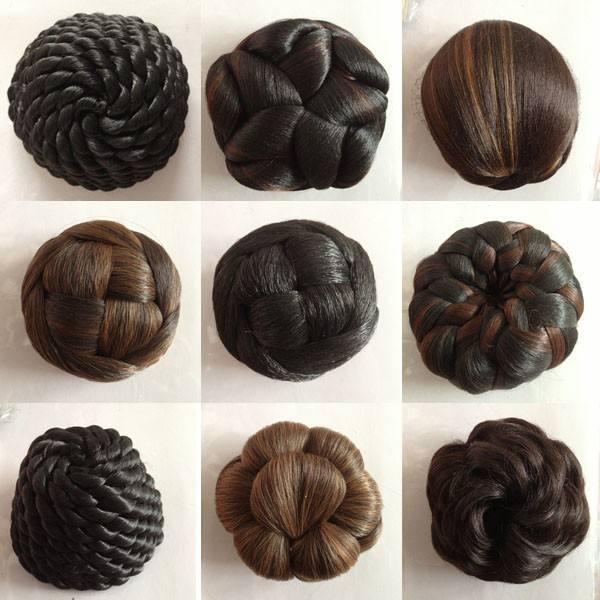 для чернокожих женщин поддельных волос булочка