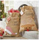 Wholesale Hot Selling Christmas Decorations Monogrammed Blank Burlap Santa Sack