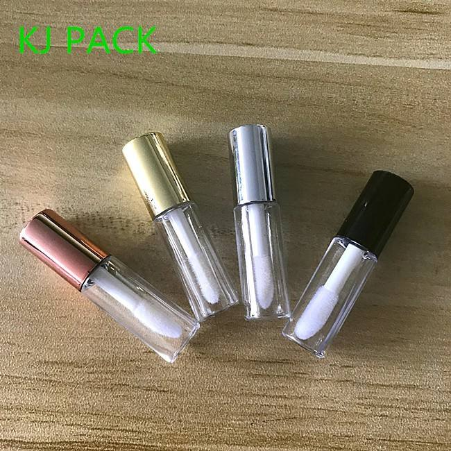 1.2ML Empty Lip Gloss Tubes Containers Clear Mini Refillable Lip Balm Bottles with Rubber Inserts for Lipstick Samples
