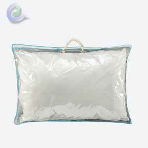 Custom Order Transparent PVC Pillow Bag With Handle And Zipper