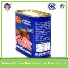 2014 hot selling beef luncheon meat tin food cans