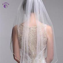 GENYA Elegant Simple Wedding Veil High Quality White Wedding Bridal Veils Bride Hair Accessories