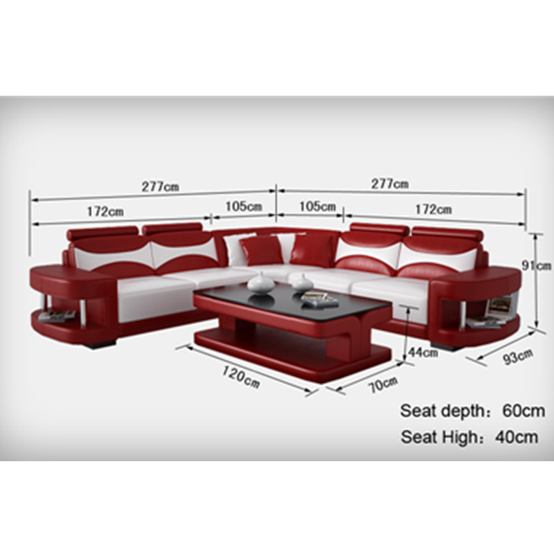 Wholesale and retail modern furniture sectional L shape corner sofa set