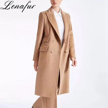Wholesale fashion women's long style winter female wool trench cashmere coats woman