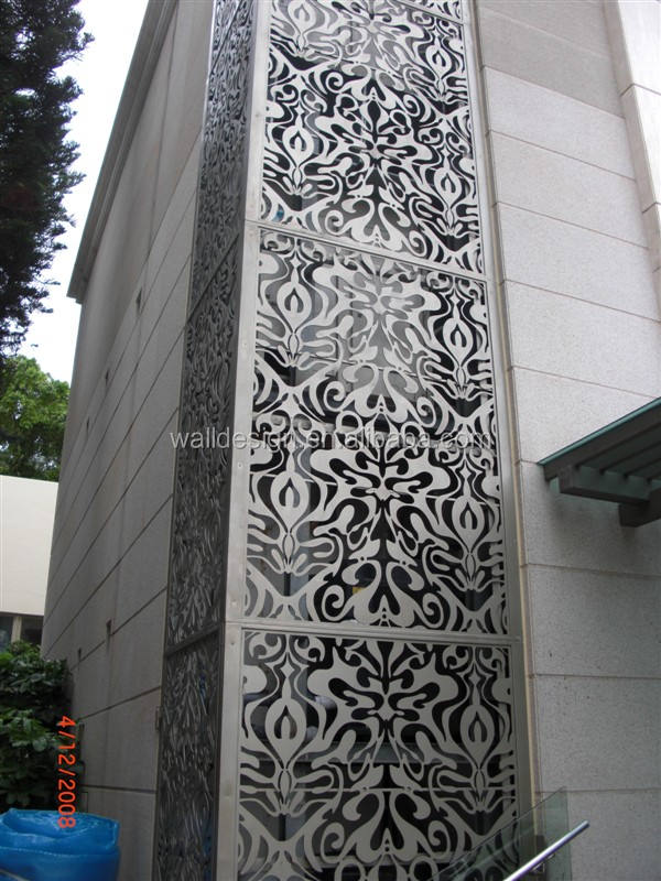 Decorative Metal Wall Covering Panels Used For Building Exterior