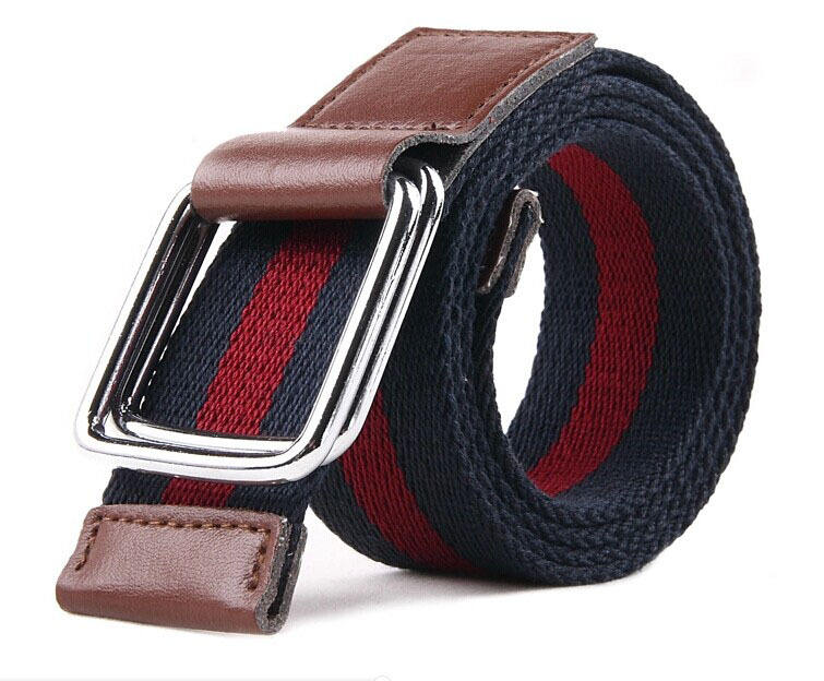 dp301 Make Canvas Double D-ring Belt for Women