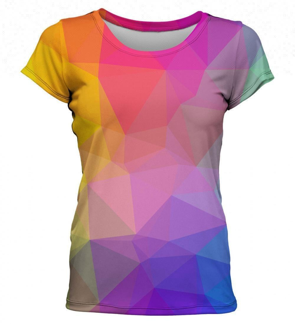 Ladies' summer fashion 3d printed long T-shirt with high quality customization