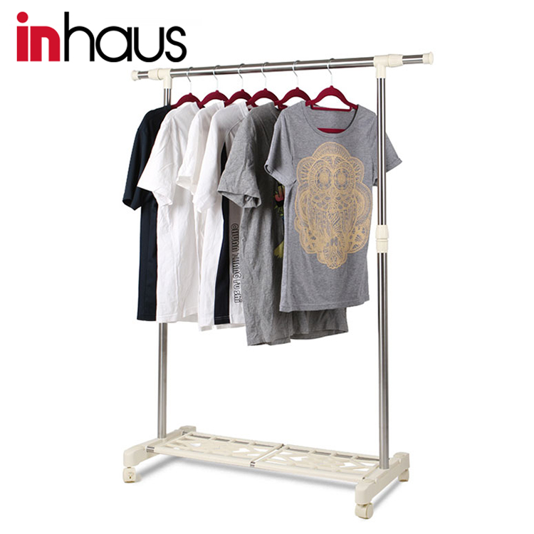 High end antique metal hanging metal clothes display rack for shopping mall