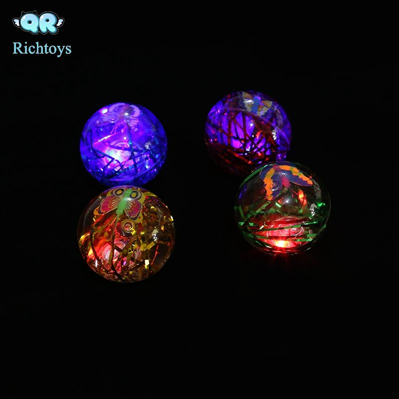 Custom Logo Party Fun LED Light Up Flashing Rubber Bouncy yoyo water balls for Kids and Adults