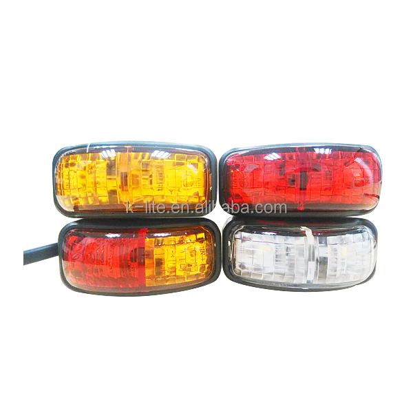 Maxxima M20332R 12 LED Red 6 Clearance Marker Light