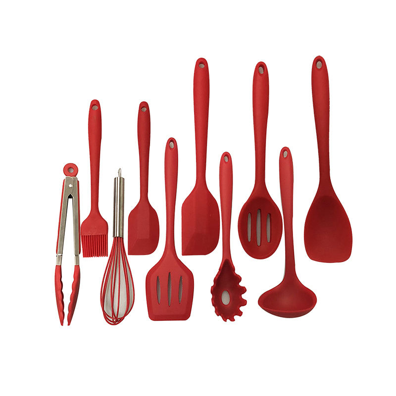 Silicone Kitchen Utensil Set,10pcs/set Silicone tools In Kitchen