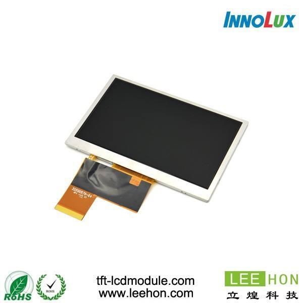 AT043TN25 V.2 Innolux tela LCD de 4.3 polegada 480x272 com placa VGA CVBS