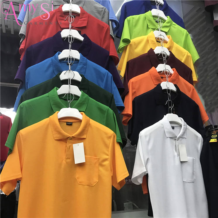 1.07 dollar MY034 cotton polyester white black yellow blue available color t shirt polo, t shirt men polo, t shirt mens 2018