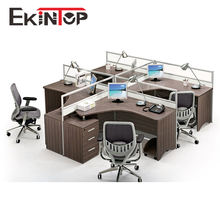 Ekintop cubicle work station partition desk,computer desk for 4 person