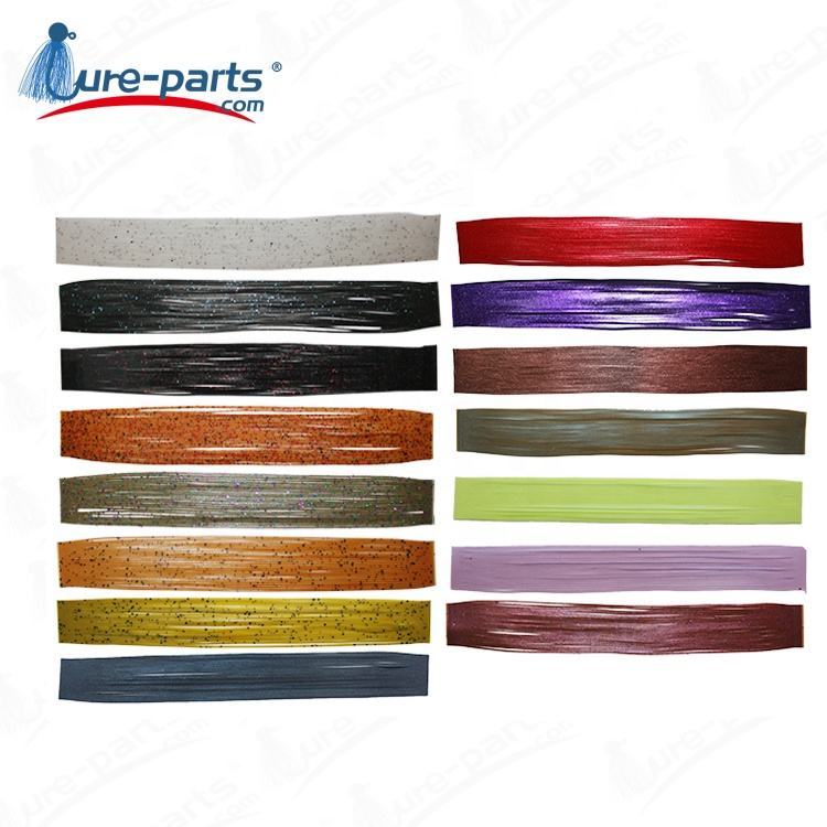 fishing lure rubber standard silicone skirt material, silicone fishing skirts