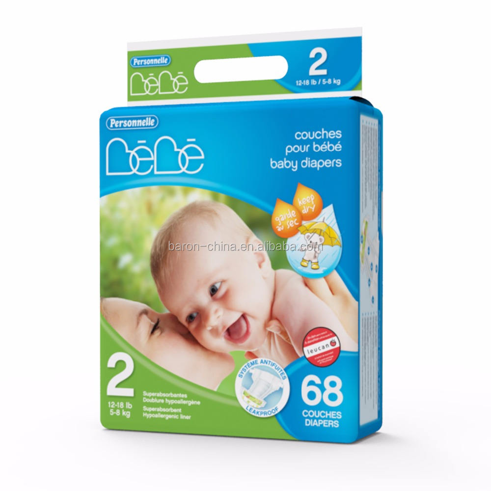 BEBE size 2 dry plus disposable baby diapers nappies popular in worldwide market