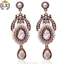white freshwater big baroque pearl earring clip on irregular vintage bridal real natural large baroque pearl earrings for women