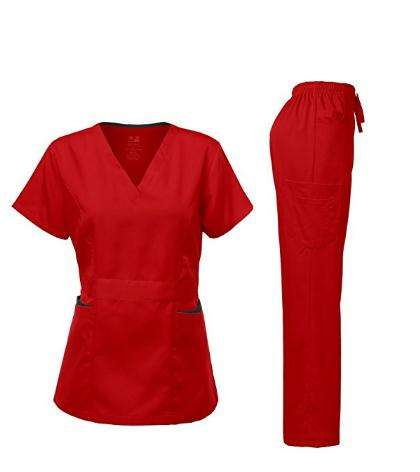 Medical Uniform Natural Stretch Premium Women's Scrubs Set Ultra Soft Top and Pants