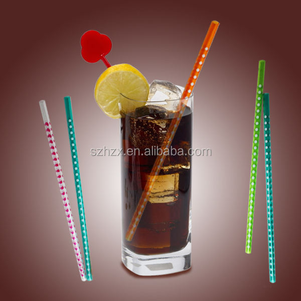 Thick Straight Plastic Beautiful Drinking Straws