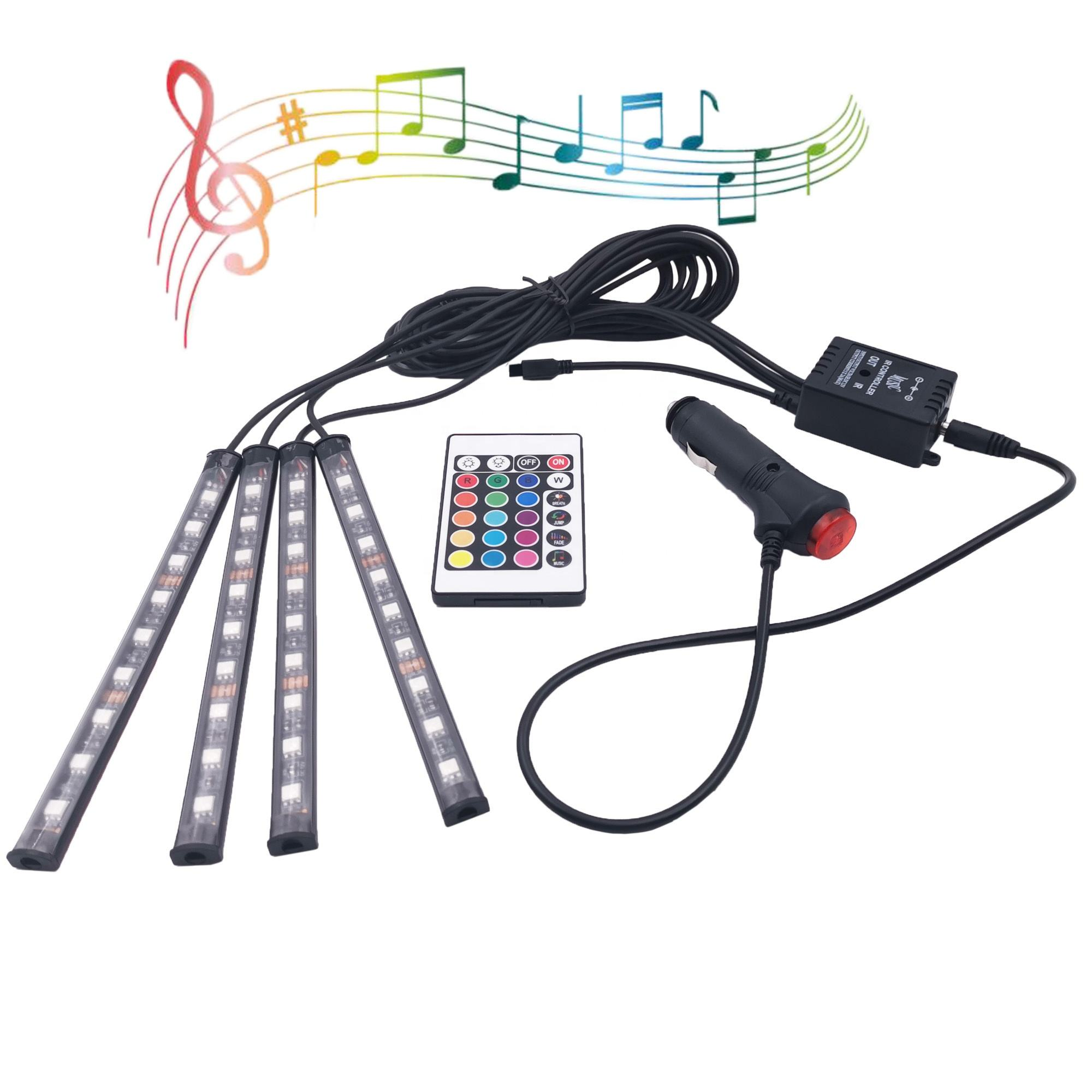 Auto Lighting System Car DJ Atmosphere LED Strip Luci LED Auto Car Decoration Light