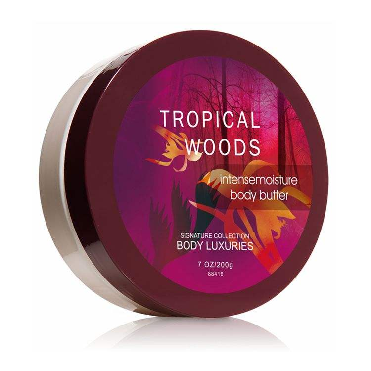 Body Luxuries Brand Tropical Woods scent 200g Organic and Super Moisturizing milk butter