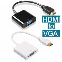HDMI to VGA Adapter Converter HDMI Cable Support Full HD 1080P HDTV HDMI Male to VGA Female For PC Laptop hdmi2vga
