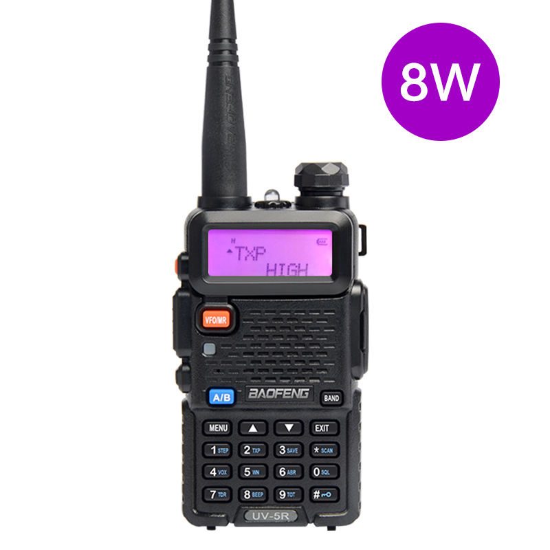 Baofeng 8 watts radio bidirectionnelle UV5R 8W haute puissance baofeng talkies-walkie