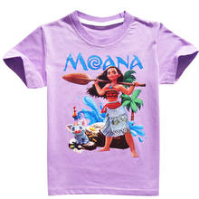 Summer moana baby Girl T Shirt Cotton Casual Children Tops for 5-12 year lod