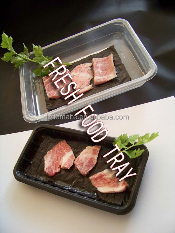 Different Types With Absorbent Pad Fashion Design Supermarket Display Food Grade Disposable Plastic Foam Meat Tray