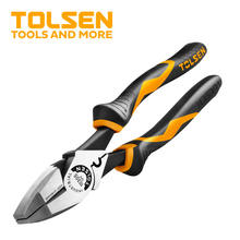 High leverage side cutting Plier W/ Fish Tape Puller & Crimper