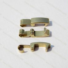 3.5mm brass fold over clasp for bracelets with raw color