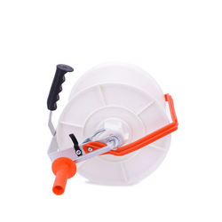 Plastic white 1:3 polywire electric geared fence reel