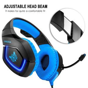 Over-ear Game Gaming Headphone Headset Earphone Headband with Mic Stereo Bass LED Light for PC Gamer