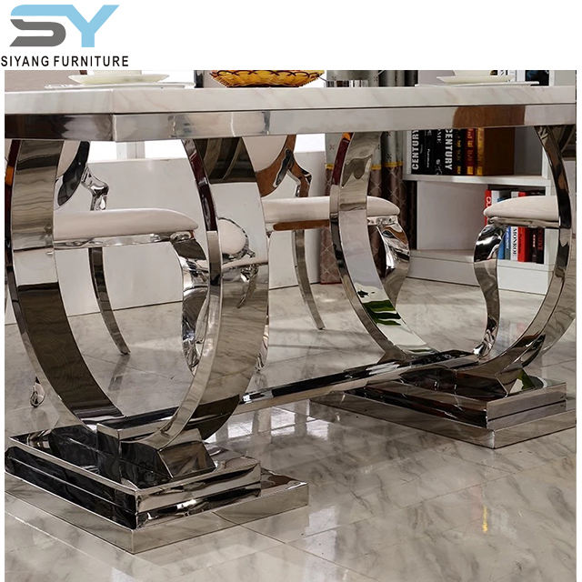 Modern Marble top round dining table CT002