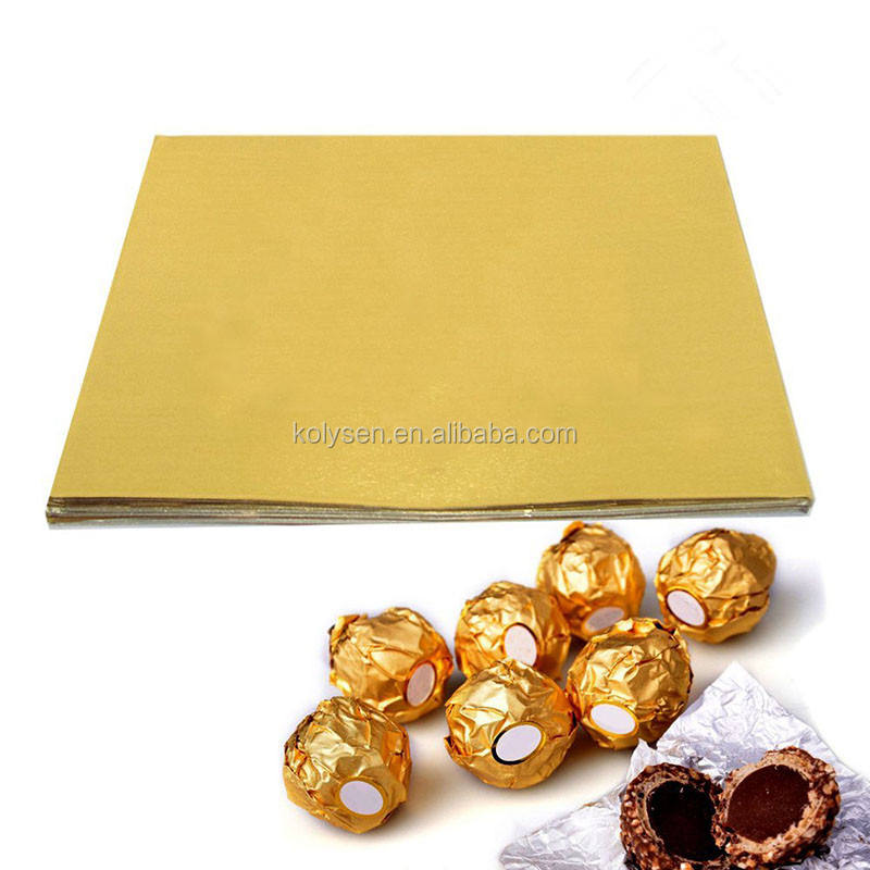 New year embossed Chocolate tablets lab wrap precut aluminum foil