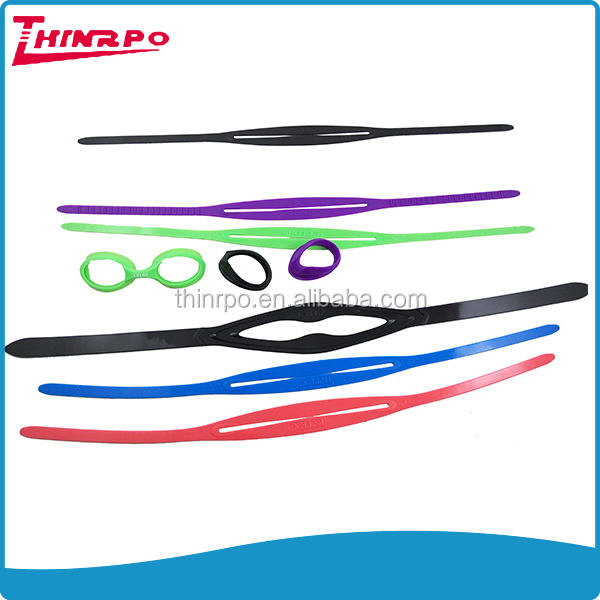 Customized soft silicone elastic swimming goggle straps for diving mask accessories